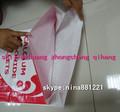 De tejido de polipropileno bolsa blanca, saco, rafia para fertilizantes y productos químicos de embalaje
