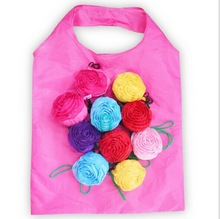 Rose pouch foldable shopping bags recyle bag foldable shopping bags
