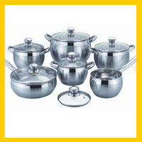 wholesale 12pcs stainless steel kitchen ware