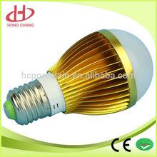 2014 Hot sale E27 5W led bulb golden color