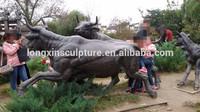 Bronze Bull Wall Street/Life Size Bronze Bull Statues