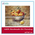 peras y naranja bodegón de frutas pintura al óleo