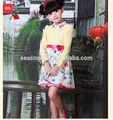 Flower girl robes de soirée 12 années avec de la dentelle et de fleurs d'impression