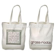 Custom printed trade show canvas tote bag