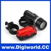 Bicycle Head Light Rear Light Lamp Waterproof 2 IN 1 LED Light for Cycling Bike Accessories