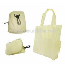 Nylon hanging foldable shopping bag