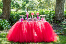 NEW Red Tutu Table Skirt Planning Ideas Supplies Tulle Tutu Table Skirt Wedding, Birthday, Baby Shower