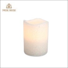 Nice Decoration Flameless Different Size Color Change Candle With White Ceramic Cup