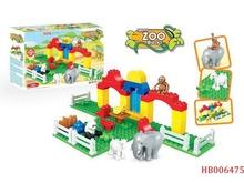 Self-Assmbly Toys Children Plastic Building Blocks For Kids 3D Building Block Game 46 Pcs