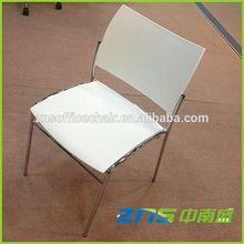 Empilhável cromo perna bancos e cadeiras