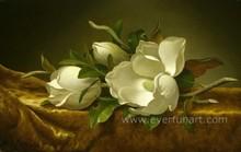 Modern decoration magnolia flower oil painting on canvas wholesale