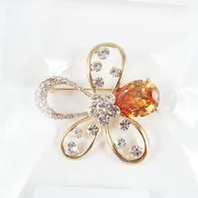 Top sale crystal brooch, cheap rhinestone brooch for wedding in bulk