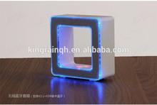 Hot Gadgets Portable speaker ! Quadrate Touch Sensor Led Table Lamp Bluetooth Speaker .