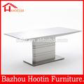 2014 mejor venta de alta calidad de diseño nuevo y moderno blanco brillo mdf mesa de comedor/mobiliariodesala