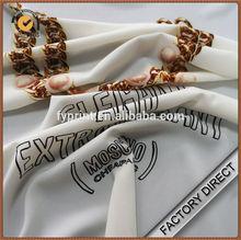 Digital print custom drapery crepe in 100 polyester fabric
