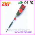 Raros presentes de natal barato vermelho rosa artificial flor, veludo vermelho da flor rosa