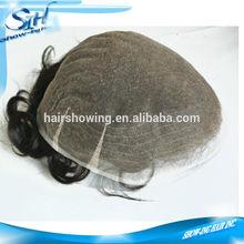 Stock of super fine French lace men's toupee