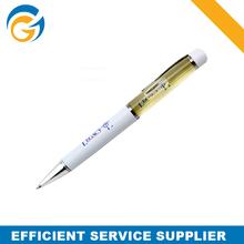 OEM Logo White Office Metal Pen Mechanism 1.0 mm Metal Ball Pen