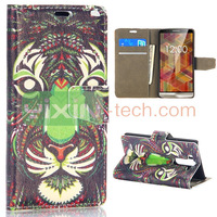 Card slot design flip stand PC back cover+PU Leather Case for LG G3 mini