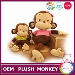 ICTI and Sedex audit new design EN71 high quality mini plush monkey