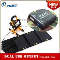 portable & foldable dual -usb wholesale solar cellphone charger