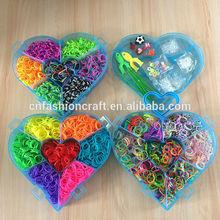 Diy loom band kit heart shape rubber band 4200pcs bands