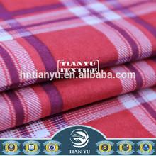 Check Printed Pyjamas Brushed Flannel Fabric Organic Cotton