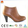 cuero de la pu de la moda más reciente diseño de la mujer sexy zapatos de tacón alto botas de tobillo