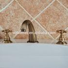 3holes 3pcs faucet set bathroom bathtub basin sink mixer tap antique brass faucet fashional