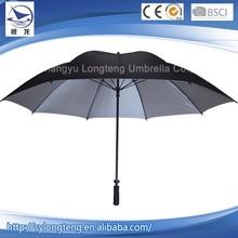 New arrival China modern design black uv protection golf bag umbrella