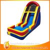2014 competitive price high quality fire truck inflatable water slide durable and exciting