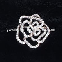 Elegant crystal flower brooch, wholesale flower brooch