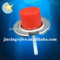 Estufa de gas portátil de la válvula y gorras rojas