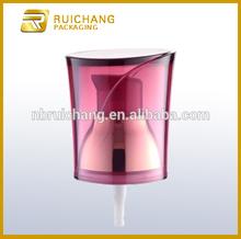 Plastic lotion pump with AS overcap/20mm cream pump/ uv coating pump dispenser