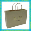custom high quality golden stamping logo fashion paper bag