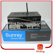 Enigma2 400 MHz Samsat sunray sr4 sim 2.10 card decoder,DVB-S,C,T2 3 tuner,wifi funcation,rev d13,300mpbs WLAN stock