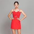 yigelila donne moda sexy abito rosso 6522
