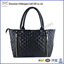 Black Hot Lady Handbag Tote Purse Faux Leather Women Shoulder Bag