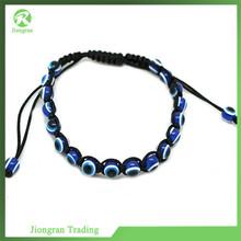 Multicolor woven evil eye bracelet/woven diamond bracelet