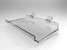 clear acrylic/plastic slatwall display shelf
