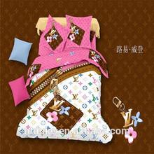 100% cotton 133*72 Hot Sale 3D Famous Brand Printed Bedding Set