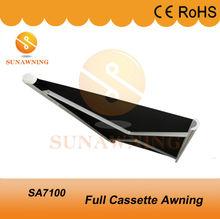 Full Cassette Aluminum Frame Electric Car Awning