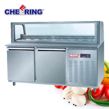 China manufacturer refrigeration equipment fan cooling stainless steel undercounter industrial freezer for catering with CE