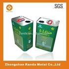 0.25 - 20 liter rectangular tin can for olive oil