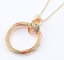 Fashion circle chain necklace ,gold chain necklace,provide chain necklace for ladies