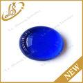 corte oval plana de fundo decorativo cabochão pedra de vidro azul