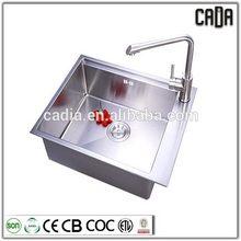Bottom price metal 590X450X200mm Single Bowl Under mounted pedestal wash sink eco pedestal basin