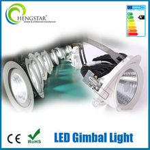 70-90lm/W COB LED Downlight commercial led cob gimbal adjustable led gimbal lights cut out 190mm