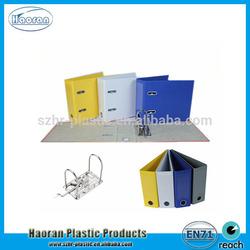 New design PVC plastic a4 hard cover file folder 2hole ring