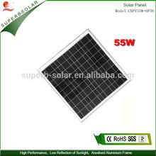 55w high conversion solar powered panel